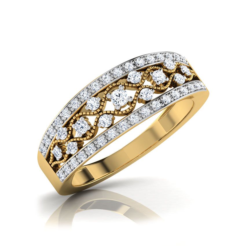 Frija Border Diamond Band