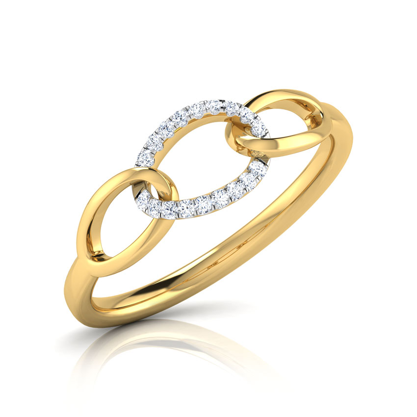 Diamond Rings 18 Karat Yellow Gold Becca Linked Diamond Ring