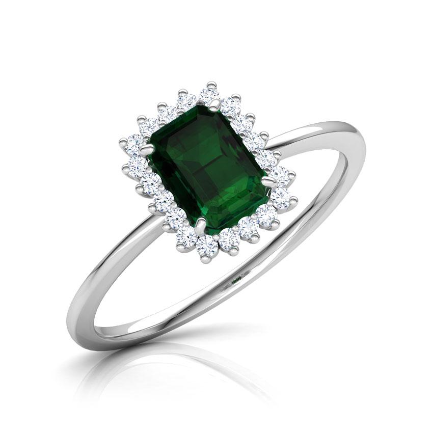 Diamond,Gemstone Rings 18 Karat White Gold Riveria Elegant Gemstone Ring