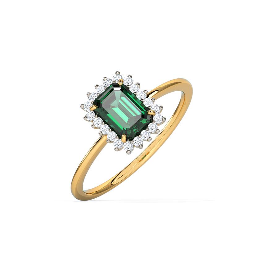 Diamond,Gemstone Rings 18 Karat Yellow Gold Riveria Elegant Gemstone Ring