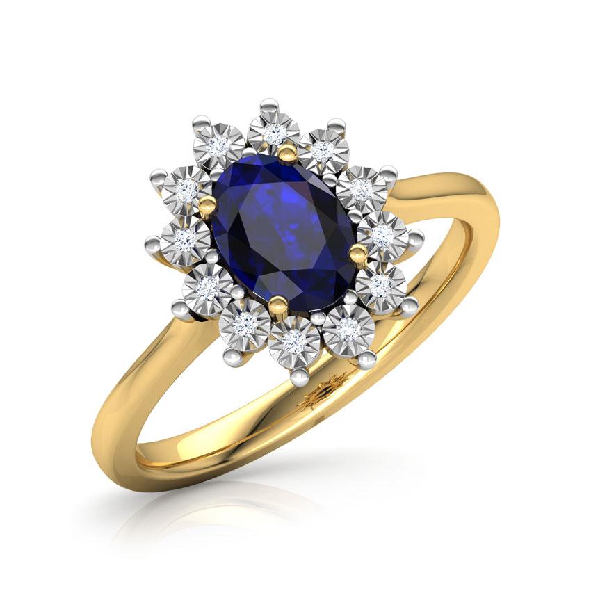 Diamond,Gemstone Rings 18 Karat Yellow Gold Azure Royal Diamond Ring