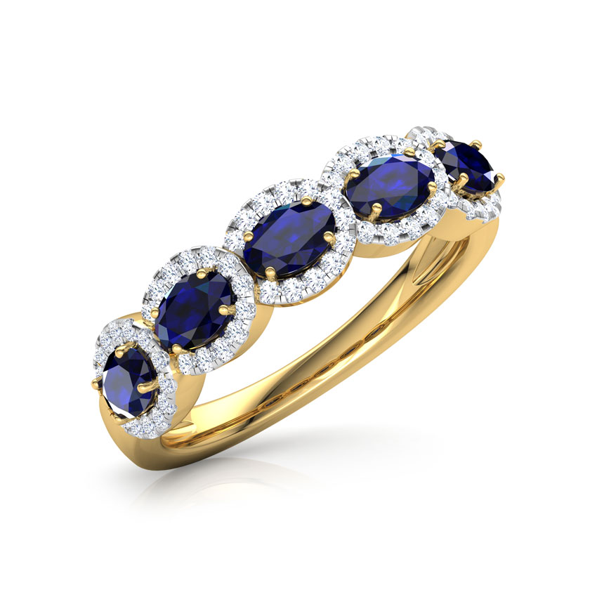 Diamond,Gemstone Rings 18 Karat Yellow Gold Azura Interlinked Diamond Ring