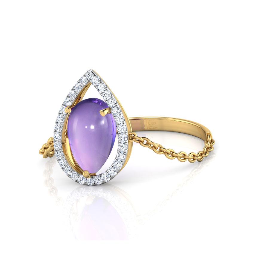 Iris Pear Ring
