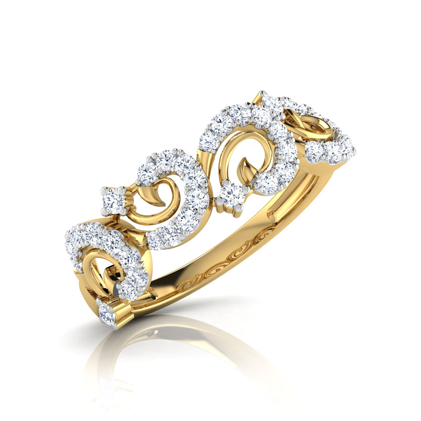 Tia Swirl Diamond Band