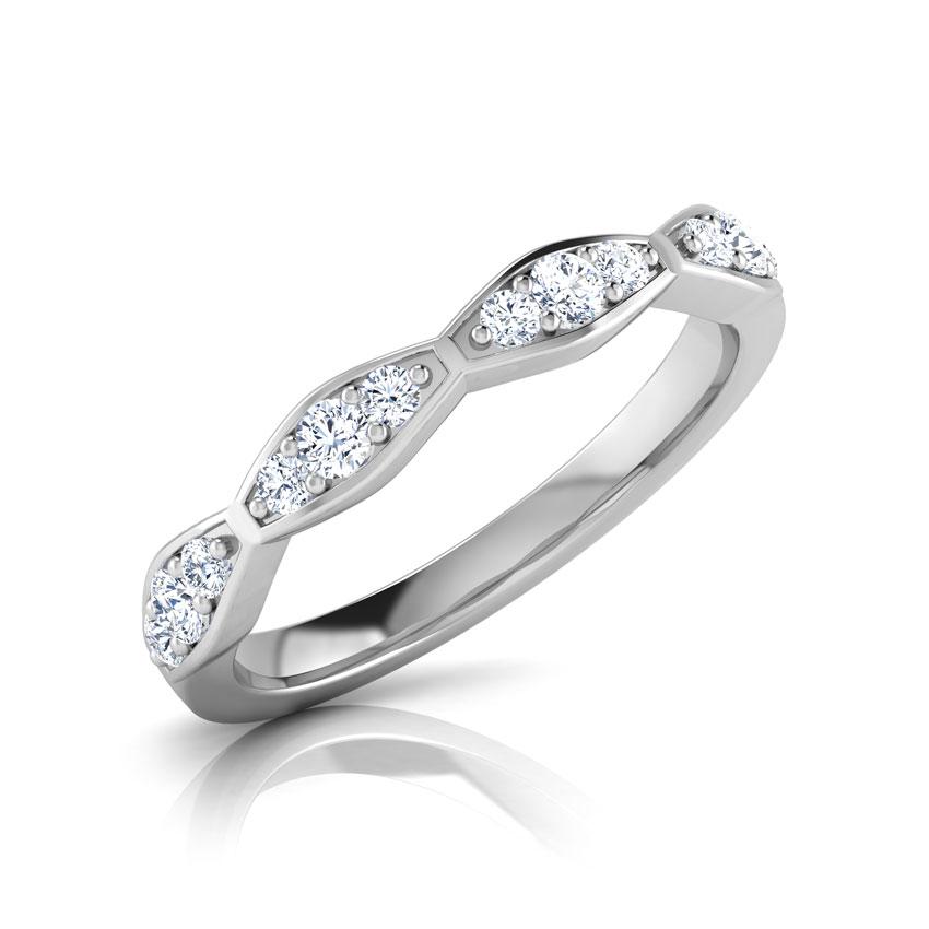 Diamond Rings 18 Karat White Gold Amy Kiss Diamond Band