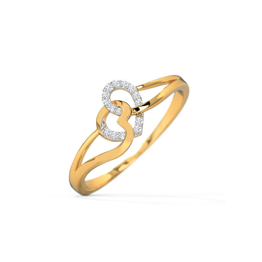 Ruth Hug Heart Ring