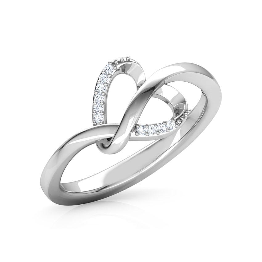 Zita Heart Knot Ring