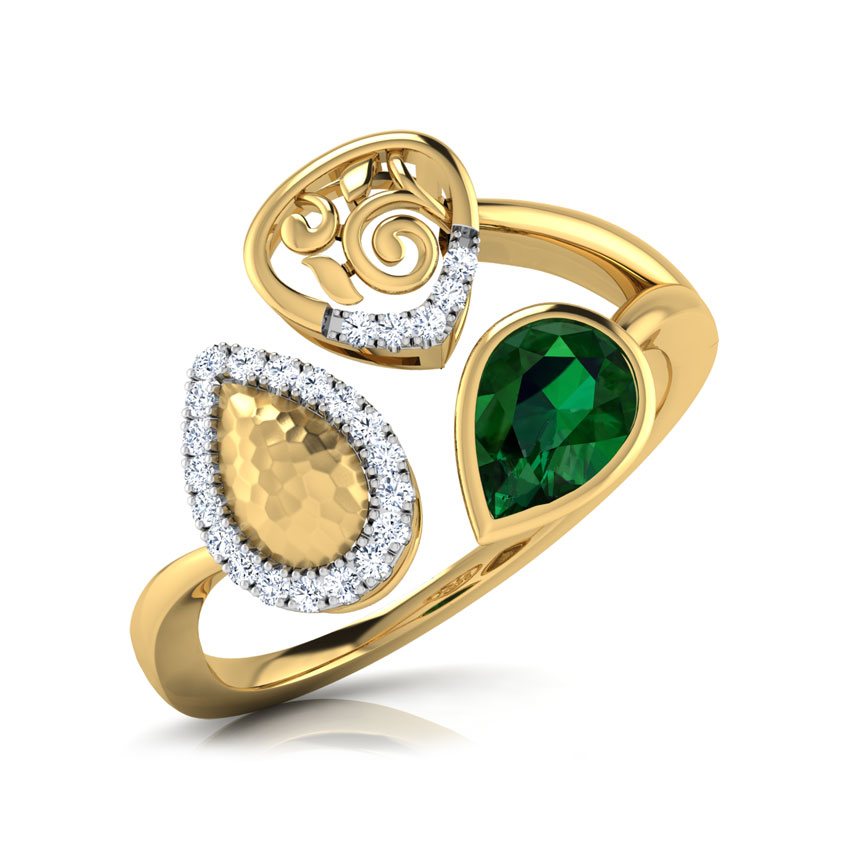 Alba Hammered Ring