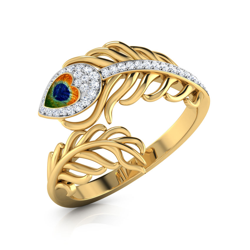 Peacock Feather Ring