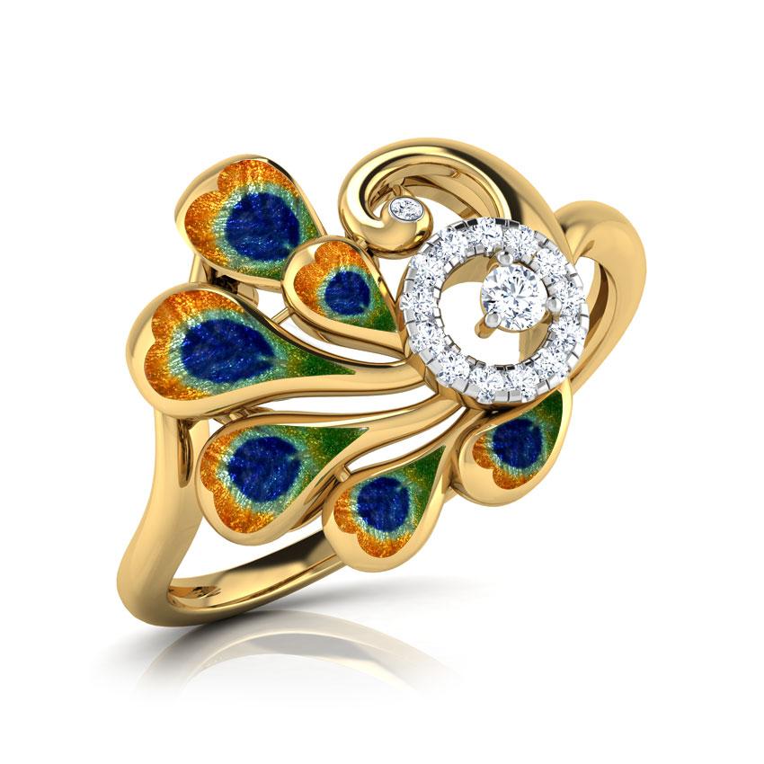 Opulent Peacock Ring
