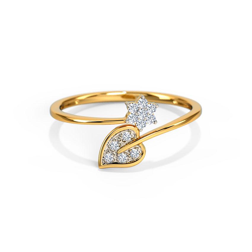 Diamond Rings 14 Karat White Gold Raisha Bloom Diamond Ring