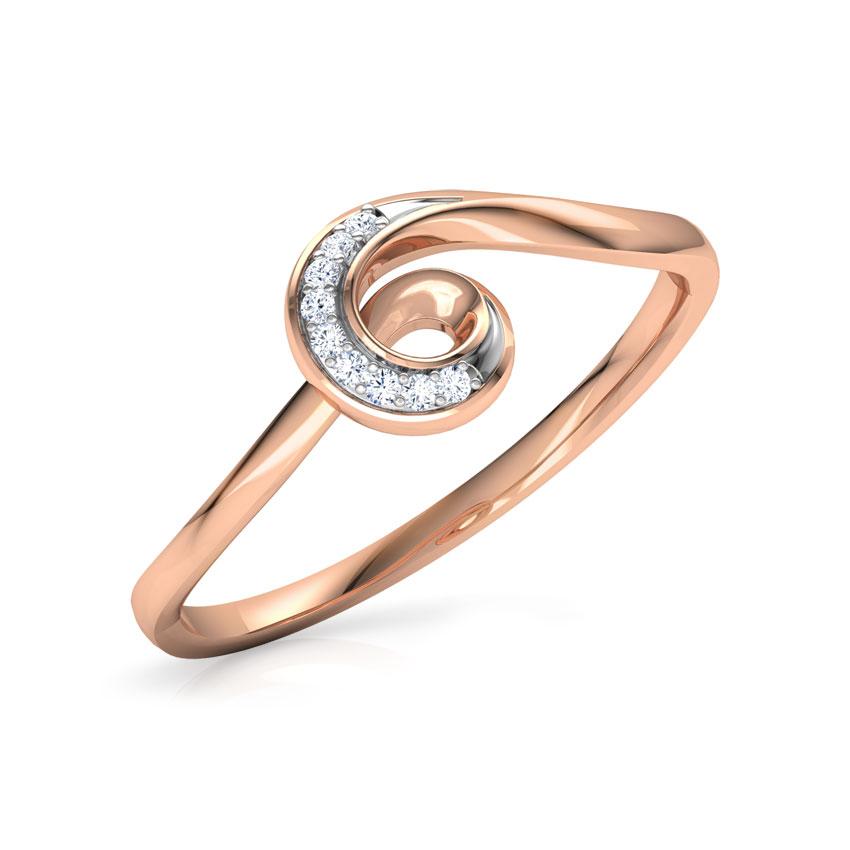 Diamond Rings 18 Karat Rose Gold Nova Diamond Ring