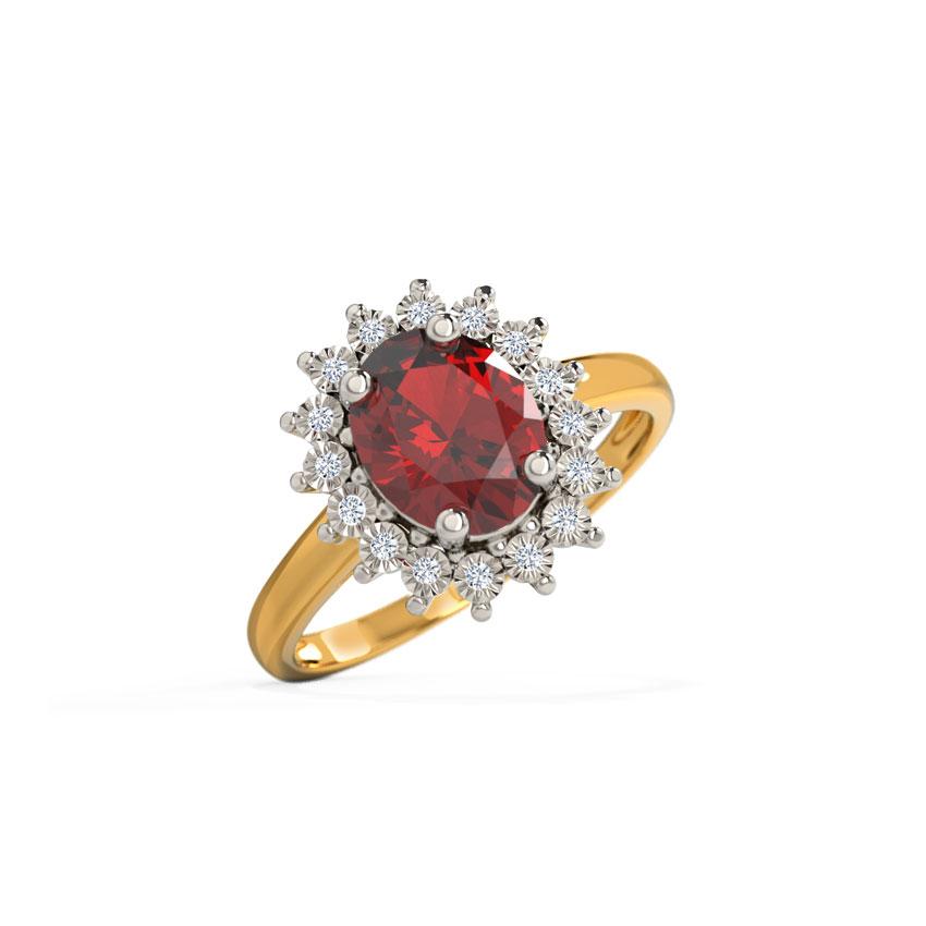 Diamond,Gemstone Rings 18 Karat Yellow Gold Sparkling Miracle Plate Diamond Ring