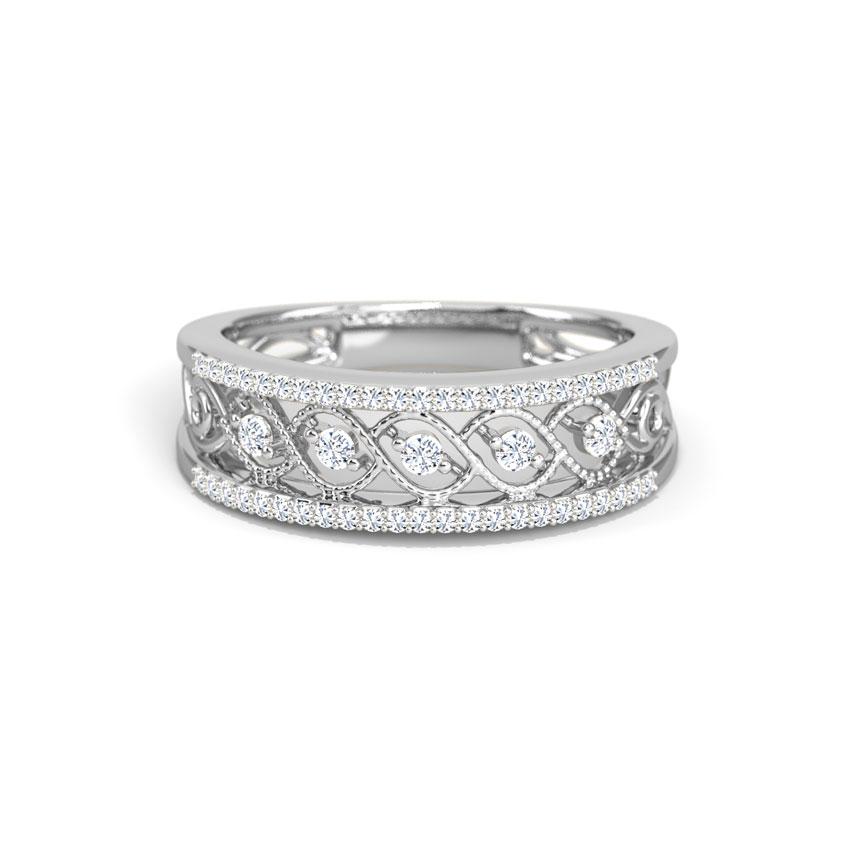 Diamond Rings 18 Karat White Gold Helix Diamond Ring