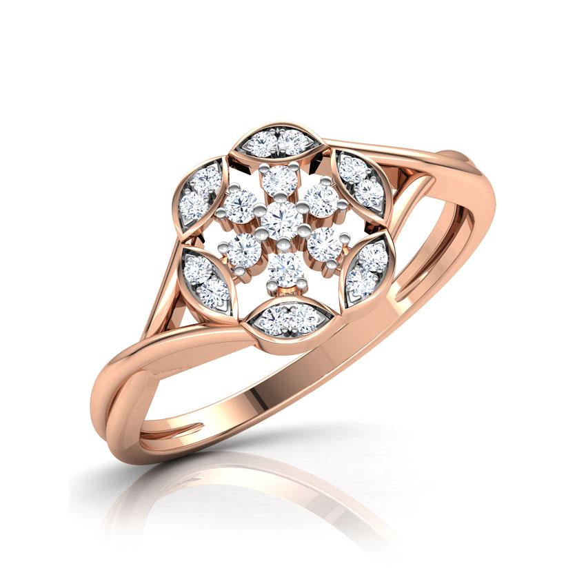 Diamond Rings 18 Karat Rose Gold Starlight Diamond Ring