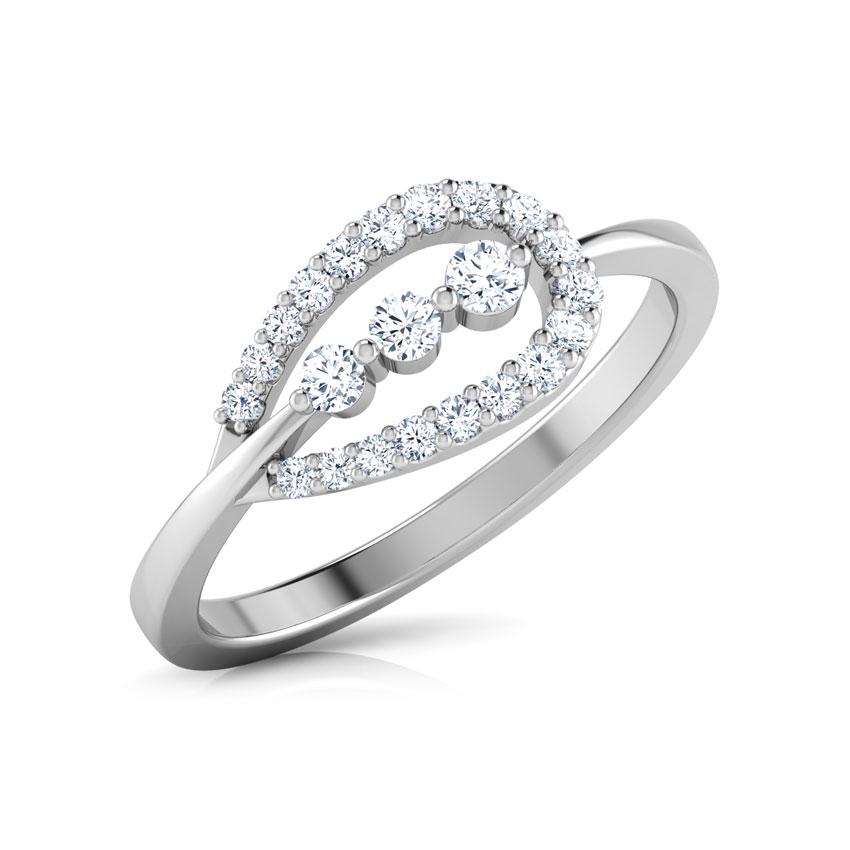 Diamond Rings 18 Karat White Gold Pear Drop Diamond Ring