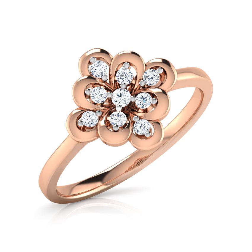 Diamond Rings 18 Karat Rose Gold Nuo Diamond Ring