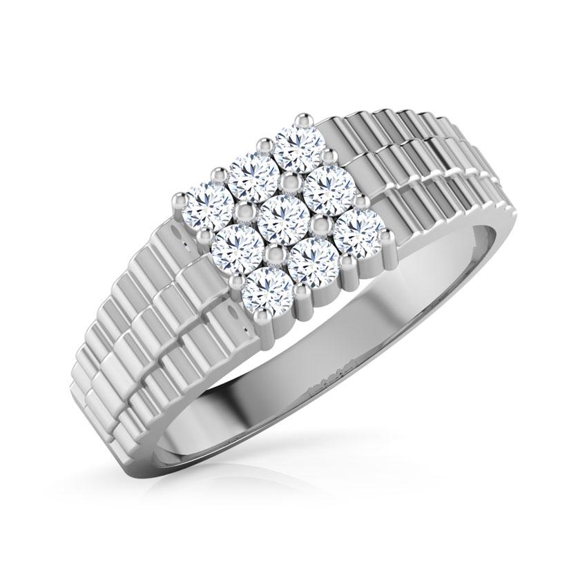Diamond Rings 18 Karat White Gold Marcus Diamond Ring For Men