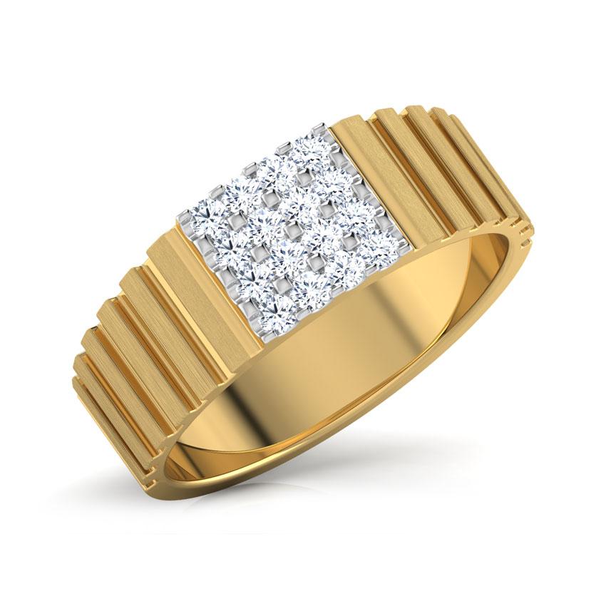 Diamond Rings 18 Karat Yellow Gold Carter Diamond Ring For Men