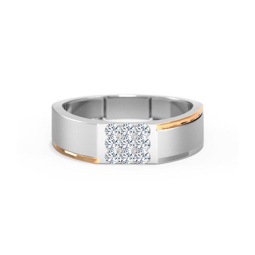 Diamond Rings 18 Karat White Gold Paul Diamond Ring For Men
