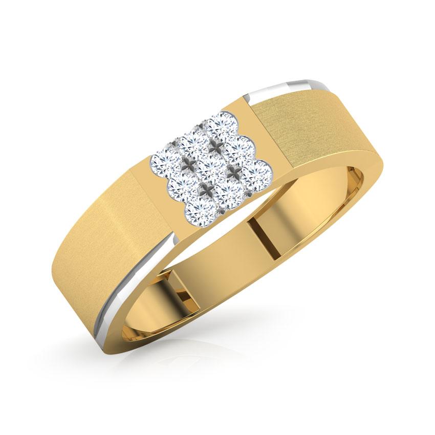Diamond Rings 18 Karat Yellow Gold Paul Diamond Ring For Men