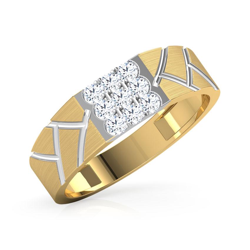 Diamond Rings 18 Karat Yellow Gold Victor Diamond Ring For Men