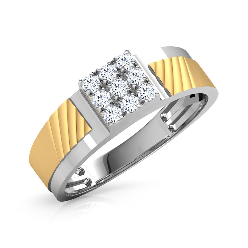 Diamond Rings 18 Karat White Gold Walt Diamond Ring For Men