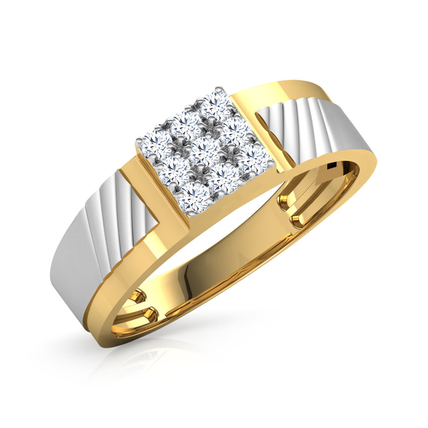 Diamond Rings 18 Karat Yellow Gold Walt Diamond Ring For Men