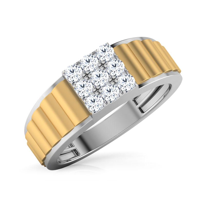 Diamond Rings 18 Karat White Gold Lamar Diamond Ring For Men