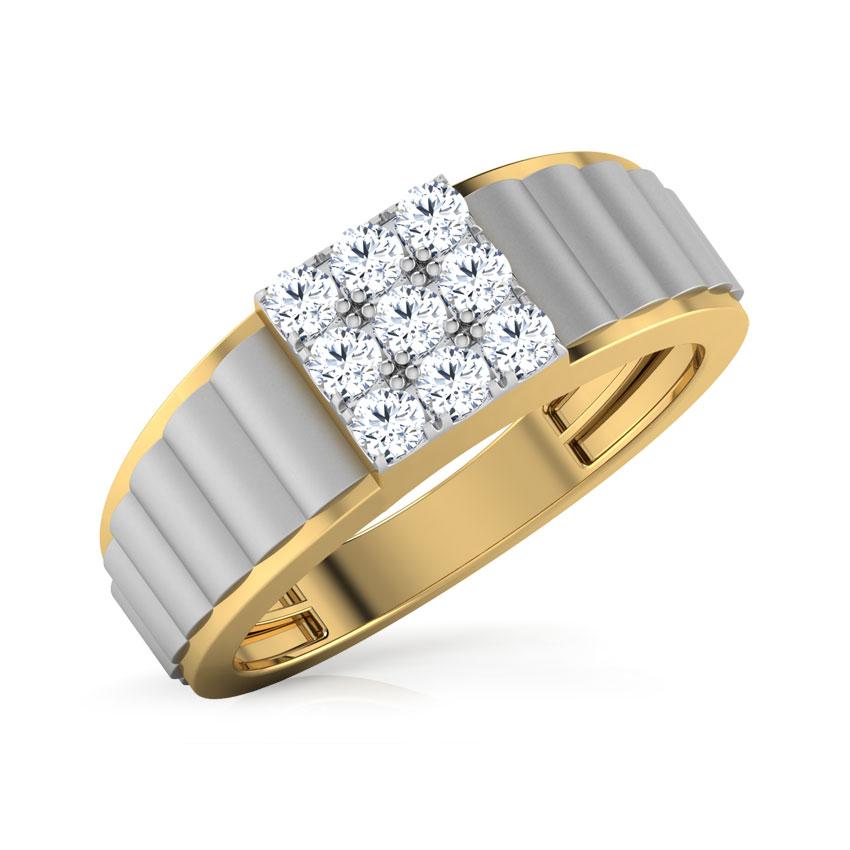 Diamond Rings 18 Karat Yellow Gold Lamar Diamond Ring For Men