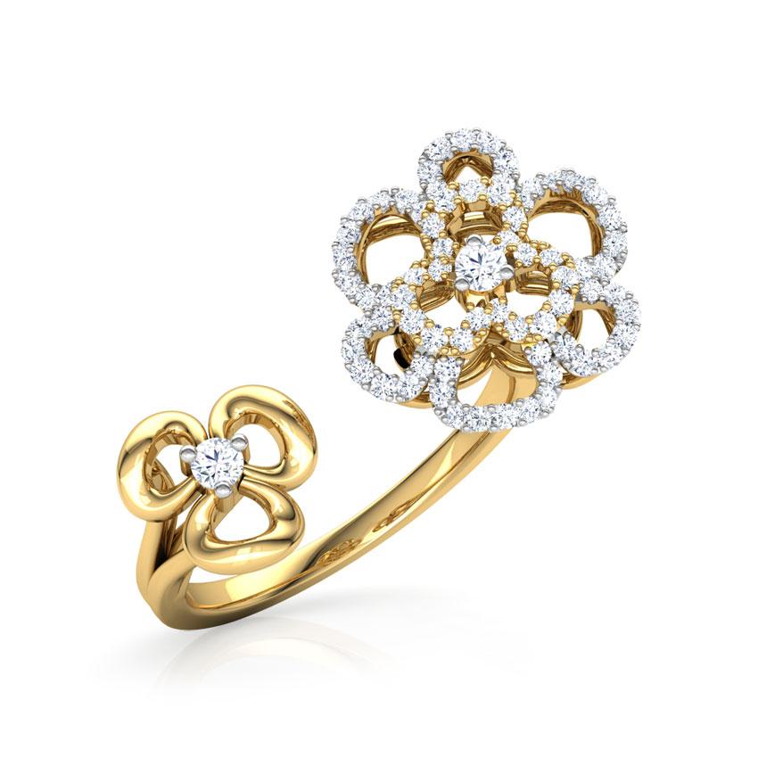 Duet Flower Ring