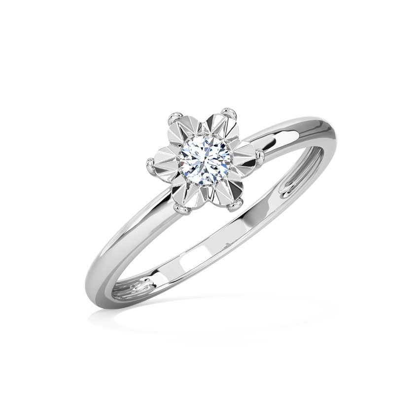 Diamond Rings 18 Karat White Gold Blossom Miracle Plate Diamond Ring