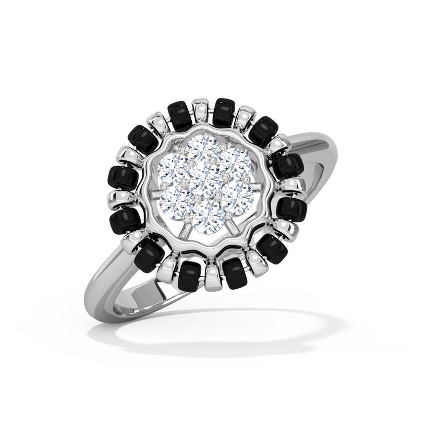 Diamond Rings 18 Karat White Gold Richa Mangalsutra Diamond Ring