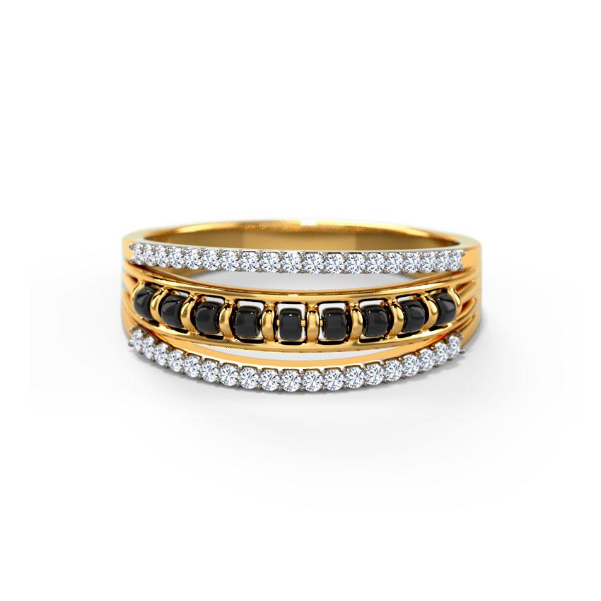 Diamond Rings 18 Karat Yellow Gold Delsi Mangalsutra Diamond Ring