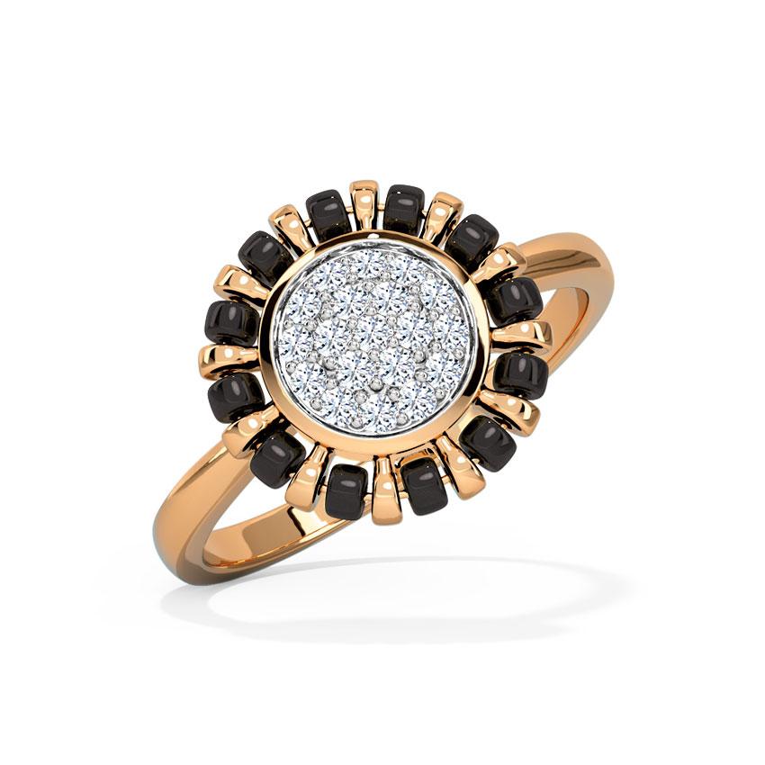 Diamond Rings 14 Karat Rose Gold Paavi Mangalsutra Diamond Ring