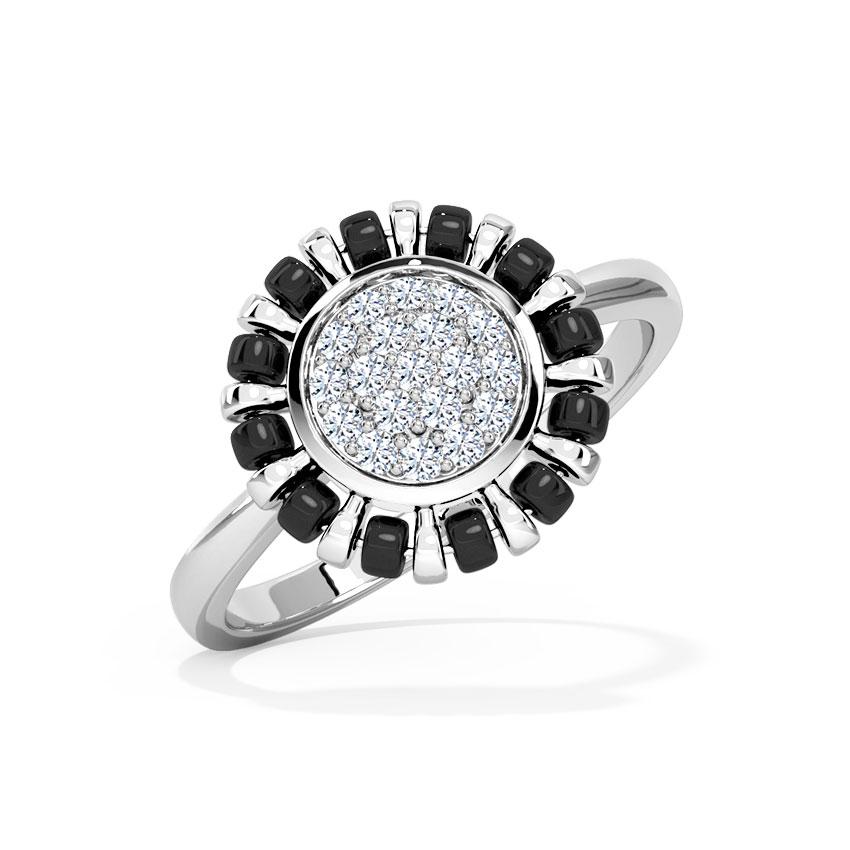 Diamond Rings 18 Karat White Gold Paavi Mangalsutra Diamond Ring