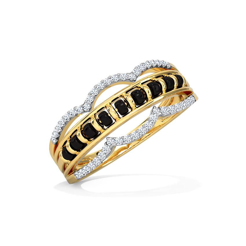 Diamond Rings 18 Karat Yellow Gold Dhani Mangalsutra Diamond Ring