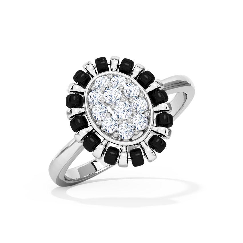 Diamond Rings 18 Karat White Gold Somiya Mangalsutra Diamond Ring