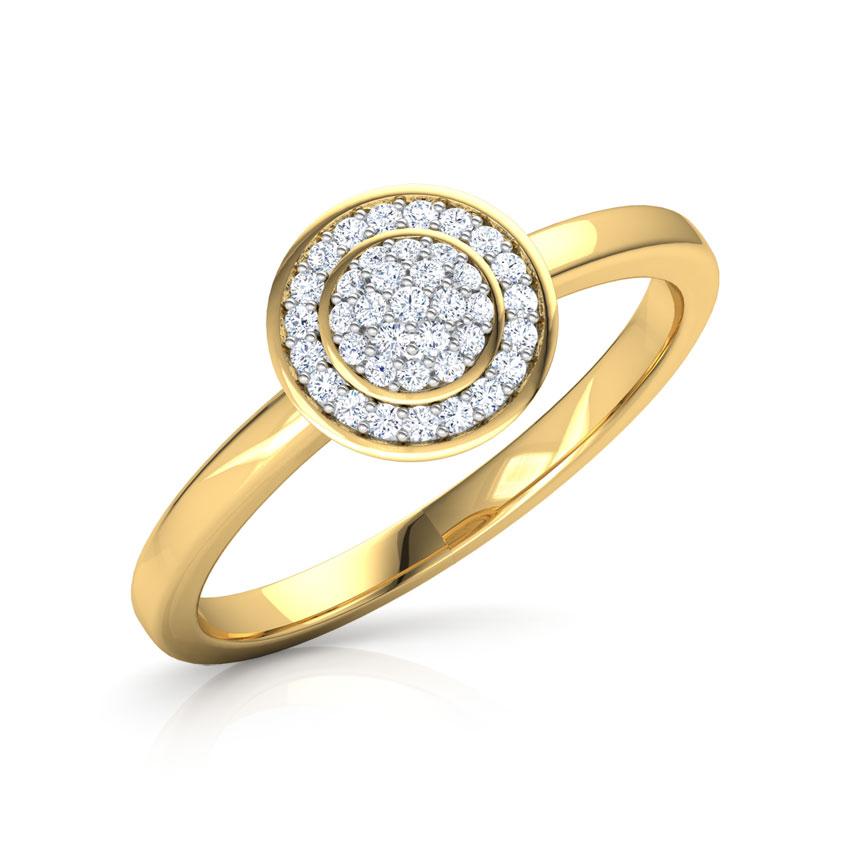 Diamond Rings 18 Karat Rose Gold Convex Cluster Diamond Ring