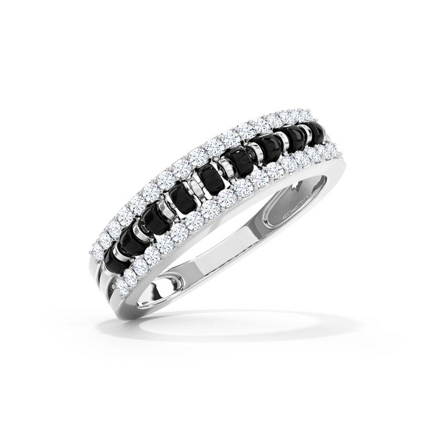 Diamond Rings 18 Karat White Gold Yukti Mangalsutra Diamond Ring