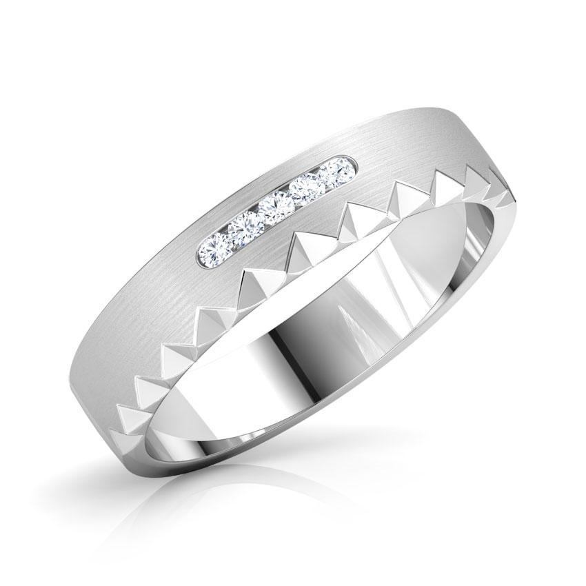 Platinum,Diamond Rings Platinum 950 Platinum Albert Diamond Band for Him