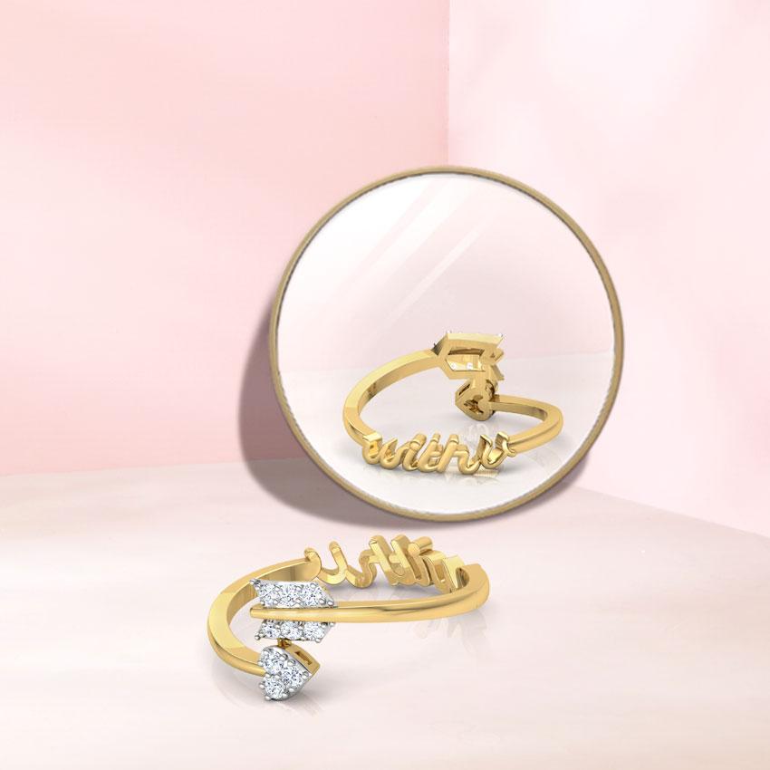 Diamond Rings 14 Karat Yellow Gold With You Love Diamond Ring