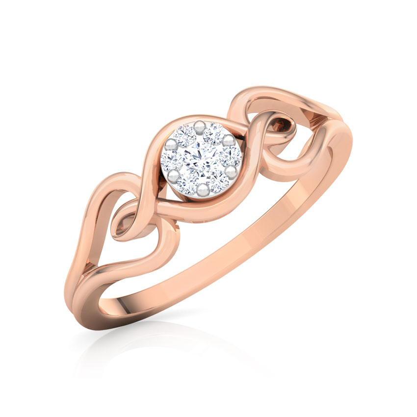 Shimmering Cluster Promise Ring
