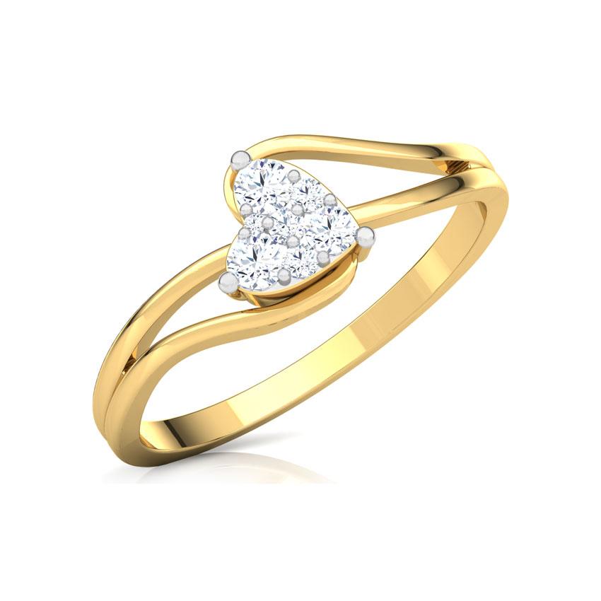Glittering Heart Promise Ring