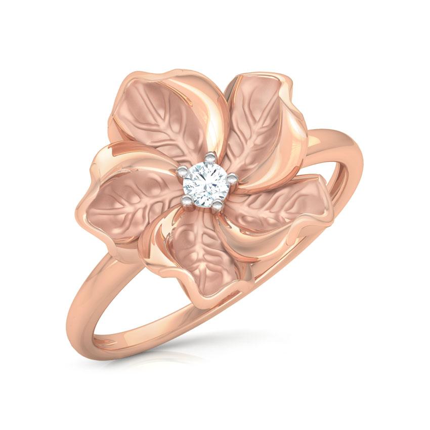 Diamond Rings 18 Karat Rose Gold Rue Bloom Diamond Ring