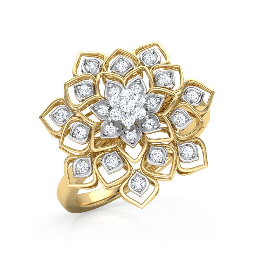 Diamond Rings 18 Karat Yellow Gold Lillian Diamond Ring