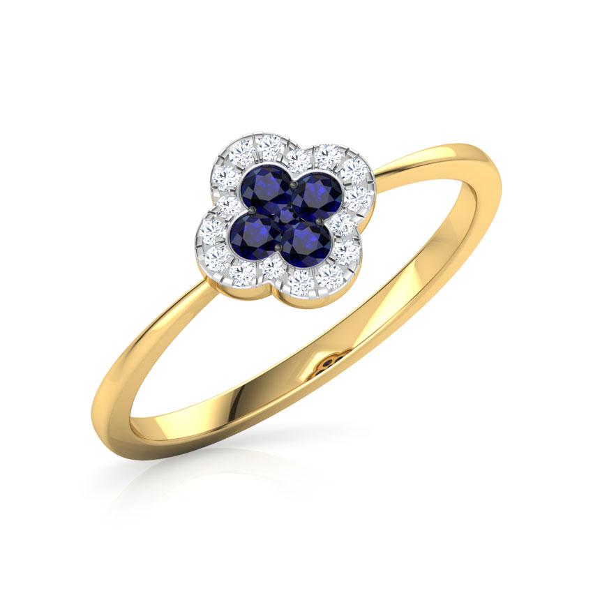 Sapphire Floret Ring