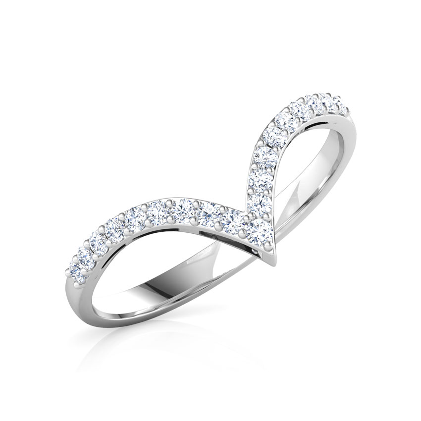 Diamond Rings 18 Karat White Gold Apex Stackable Diamond Ring