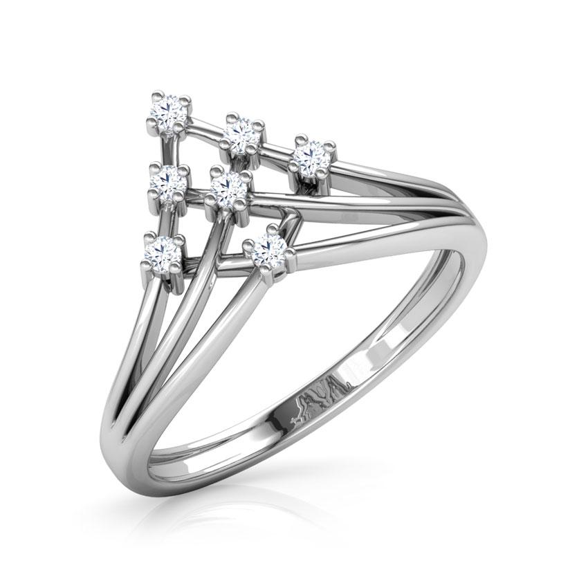 Diamond Rings 18 Karat White Gold Alosha Glow Diamond Ring