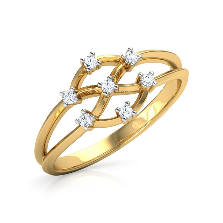 Diamond Rings 18 Karat Yellow Gold Ishya Brilliant Diamond Ring